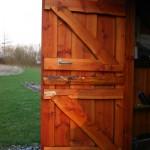 trætjære finsk træolie xl på dør
