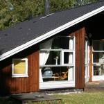 Trætjære finsk milebrændt nyt hus, gavl